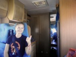 in a Caravan minivan