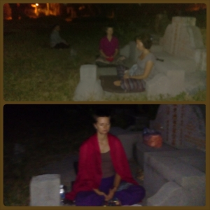 Midnight meditation at a  cemetery. Медитация в полночь на кладбище